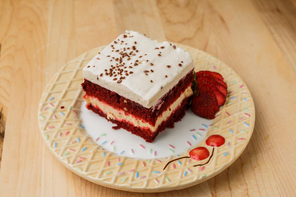 Sensational red velvet cheesecake